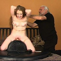 Forced orgasm fun0. Kitty is tied to a post and given an intense forced orgasm by the evil Master Len.