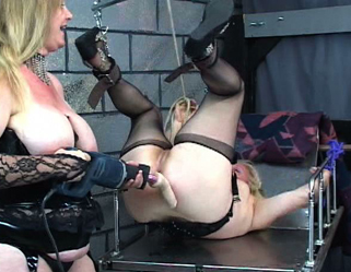 Forced orgasm take two0. Master Len gives two of his naughty slaves a forced oragsm.
