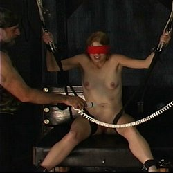 Punish the girls. Master Len punishes several girls at once in this lascivious BDSM film.