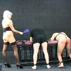 Female domination fun0  a naughty male slave gets dominated by two women in this horny bdsm film. A naughty male slave gets dominated by two women in this lustful BDSM film.
