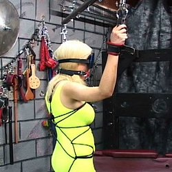 Punished with ropes. Master Len uses ropes and a dildo to punished his very naughty slave