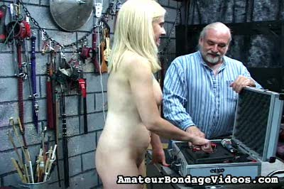 Electric punishment1  master len uses his electrostimulating machine to give his naughty slave a forced orgasm Master Len uses his electrostimulating machine to give his naughty slave a forced orgasm.  .