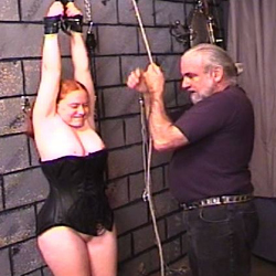 Betty deserved extreme punishment. Betty is a lustful red hairy fat babe who loves to wear leather tops and boots and she loves to be treated with no respect