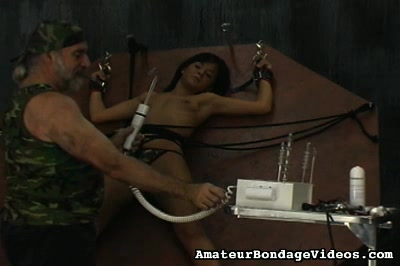 Extreme bdsm punishments  her master who was dressed like a soldier gave his best to make her feel the pain and that is why he used all kinds of toys and devices. Her master who was dressed like a soldier gave his best to make her feel the pain and that is why he used all kinds of toys and devices