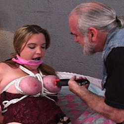 Bdsm roping  jennifer s natural tits turned red because of the ropes but that is nothing in comparison to what her master plans to do to her. Jennifer's boobs turned red because of the ropes but that is nothing in comparison to what her master plans to do to her.